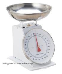 Scala meccanica della cucina della bilancia dinamometrica 5kg del corpo di Metel retro