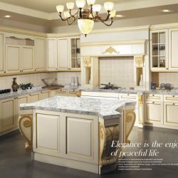 Compteur de l'île de cuisine en granit cuisine haut de page Comptoir de cuisine en marbre Tops de gros de la table de travail
