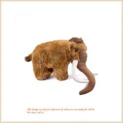 푹신한 긴 코 Rufous 코끼리 장난감 견면 벨벳 동물 모형