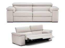 Mobiliário de estilo europeu Sofá Preto e Branco L Shape Designs de conjunto de sofá de couro italiana contemporânea Sofá Transversal