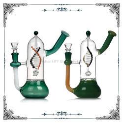 Nuovo disegno tubi di acqua di vetro da 8.5 pollici con i tubi di fumo di vetro esaltanti di Shisha del narghilé del DNA Perc