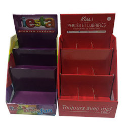 Caixa de exibição com os detentores de papel ondulado impressão CMYK para exibição
