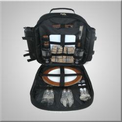 Multifunktions2 Personen-Picknick-Beutel, im Freienpicknick-Rucksack, kühlerer Beutel mit dem Tischbesteck, zum der Frucht neue, große zu halten Kapazität, einschließlich Picknick-Zudecke