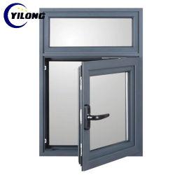 Bloqueo de alta seguridad de Vidrio resistente al impacto de PVC de UPVC Casement Window
