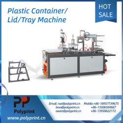 Couvercle en plastique écologique automatique l'emballage alimentaire case machine de thermoformage bac avec les trous