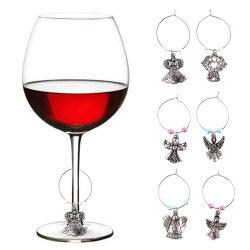 Une exquise petite poignée de commande de bijoux en verre de vin de boucle de ceinture