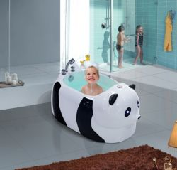 Panda Shaped Baby-Bad mit Luftbläserfunktion, Kinderwanne
