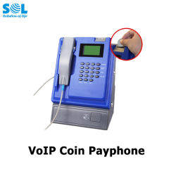 Preiswertes drahtloses VoIP Münzeninnenmünztelefon in den Kaffeestuben