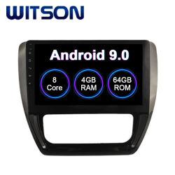 Android Market 9.0 Sistema de áudio do carro para a VW 2012-2014 Sagitar multimédia/Jetta Versão Air-Conditioner Auto 4GB de RAM 64GB