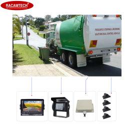 Les véhicules de transport municipal, Camion Poubelle côté droit tache aveugle la surveillance du système de détection de l'Assistant détecte de sécurité de conduite de voiture