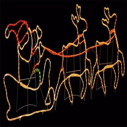 Lichten van het Motief van de Kerstman van de Lichten van het Rendier van LEIDENE de Openlucht Grote Kerstmis van het Motief