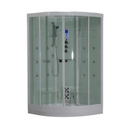 Puerta corrediza de vidrio templado de color blanco de la bandeja de Sector de la sala de sauna de vapor