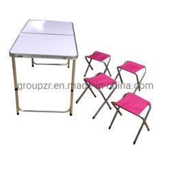Bonne qualité de gros de meubles de jardin pique-nique Camping léger en aluminium Table et chaises de pliage réglable