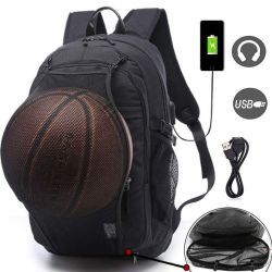 Basketball wandert Sport-Beutel mit Kugel-Fach USB-aufladenkopfhörer-Kanal