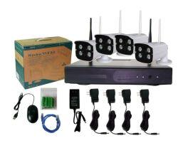 4 cámara IP inalámbrica Kit de sistema de vigilancia