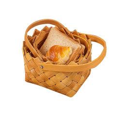Prova de pão Amiga Cesta Cesta de frutas de madeira para a organização
