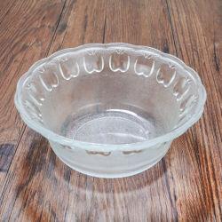 Verre gaufré bol à salade de fruits en verre clair bol pour la vaisselle de table