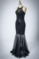 Personalizar Chiffon sem mangas elegante vestido de Noite