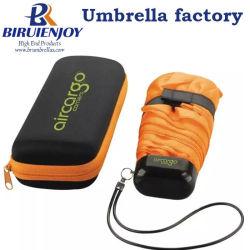 Promotie Vouwende Paraplu 5 met de Doos van de Gift van EVA, Luxe Vouwende Paraplu
