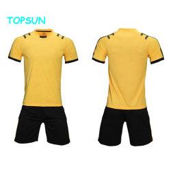 L'abitudine ha stampato l'uniforme stabilita di gioco del calcio di Wicking dell'umidità della Jersey di calcio della pianura di estate dei capretti di marchio