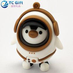 Китай Custom мультфильма Toy кукла резиновый брелок телец сувенирный подарок Пингвин робот 3D логотип ПВХ брелок компании рекламные материалы индивидуальные цепочки ключей с дизайном