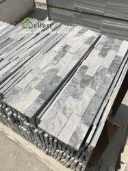 Аляска мутного цвета Белый и серый Quartzite уступа культуры укладки природного камня для монтажа на стену панелями из шпона