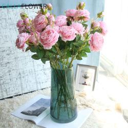 결혼식 훈장 인공 꽃 먼지 투성이 분홍색 실크 장미 MW51010