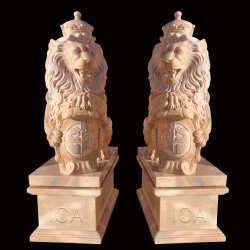 Hoher Kunstfertigkeit-lebensgrosser Löwe-Marmor geschnitzte Tierabbildungen