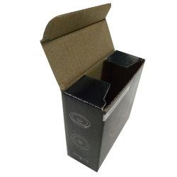 Petite boîte de papier ondulé imprimées en noir avec F Flûte 1mm
