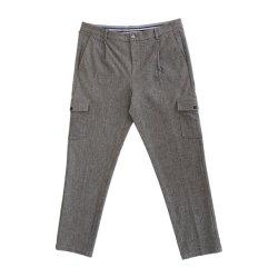 63,5 30,5%6 poliéster viscose%Spandex Calça casual de carga Slim para Mens Fashion Pants