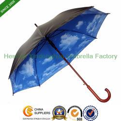 ترويجيّ هبة عصا خشبيّة مستقيمة [أوف] مطر مظلة مع [بلو سكي] أسلوب ([سو-سك0023و])