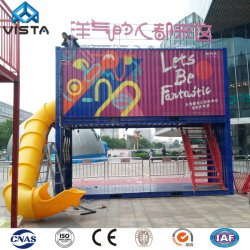 中国20FTの40FT拡張可能生きている家庭内オフィスの使用のプレハブのプレハブの鉄骨構造の現代モジュラー移動式輸送箱の家のサイトの小屋