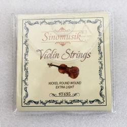 Stringhe chiare supplementari del violino della ferita rotonda poco costosa all'ingrosso del nichel
