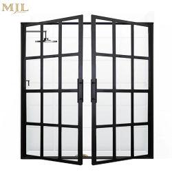 フランス様式の前部はアルミニウムガラス開き窓のドアを設計する