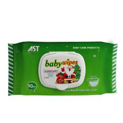 Органический Детский влажных салфеток питания на заводе 90 ПК не тканого Napakins очистки