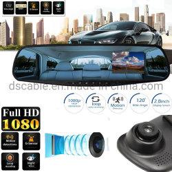 "2.8"" HD 1080P Lente azul coche DVR Grabador de cámara de vídeo Cam Dash espejo retrovisor"