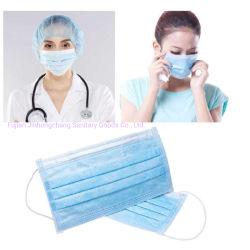 Wegwerfc$drei-schicht verdicktes epidemisches schützendes nichtgewebtes, Falten, schützend, 3 Pl, Gesichtsbehandlung, Großverkauf, Gesichtsmaske