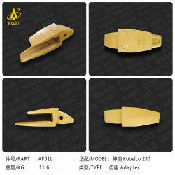 Af01L Kobelco Sk230 Series адаптер ковша экскаватора и ковш погрузчика рытье зуб и адаптер, строительные машины запасные части