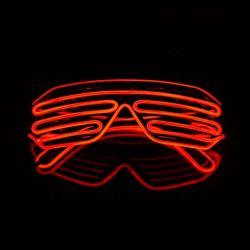 Бар-ди-джей горячей реквизита для глаз тени световой индикатор неон EL провод очки мигать мигать очки