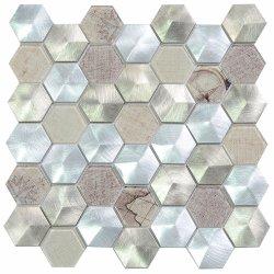 Mozaïek van het Metaal van het Aluminium van de Tegel van de Muur van Foshan het Nieuwe Decoratieve Geborstelde