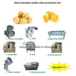 El lavado de patatas chips cortadora Cortadora de peeling que hace la máquina (WS)