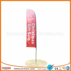 Bon marché de promotion de la promotion de la plage rouge étanche drapeaux