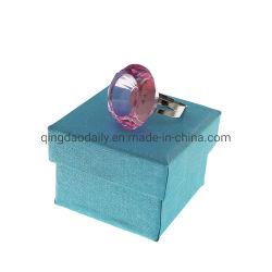 Cristal Non-Disposable coloridos anéis titular de cola para extensão Eyelash