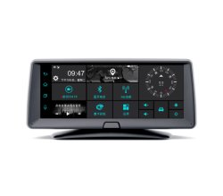 7 인치 1080P 차 DVR 사진기와 뒷 전망 사진기 1GB 16GB 트럭 차량 GPS 항해자와 가진 인조 인간 Avin GPS 항법