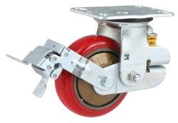 Absorption des chocs PU Roulette pivotante avec frein