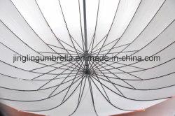 بيع ساخن ضمن 24 ضلوع مظلة مستقيمة بمقبض خشبي
