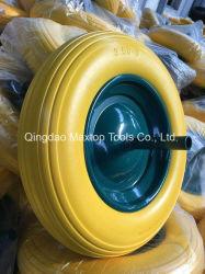 Rotelle libere piane di gomma solide resistenti della carriola della gomma piuma dell'unità di elaborazione di Tgum
