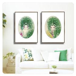 Chinesische Art-klassische abstrakte Portrait-Öl-Segeltuch-Farbanstrich-Wand-Kunst-Dekoration-Abbildung