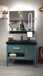 イタリア人の最新の純木の浴室はLEDミラーによってセットした