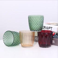 Supporto di candela di vetro Votive glassato vario colore della candela del vaso di vetro vuoto del contenitore